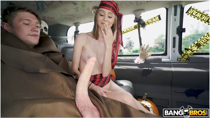 Alicia Williams - Halloween Fuck Session on The Bus | BangBus